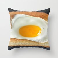 breakfast Throw Pillows featuring Breakfast by Asano Kitamura