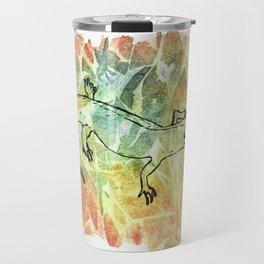 Happy Salamander in Leaf Pile Travel Mug