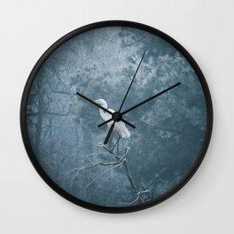 Snow Crane Wall Clock