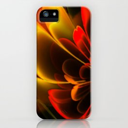 Stylized Half Flower Red iPhone Case