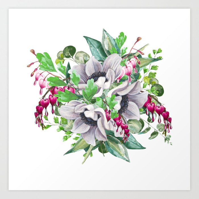 Gentille Watercolor Handpainted Clipart Floral Flower Design