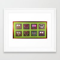 coasters Framed Art Prints featuring Outback Coasters  by Save Your Art For Food