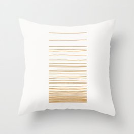 Linear Gradation - Caramel Throw Pillow