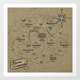 Mythos : Carte de la Plaine Centrale Art Print