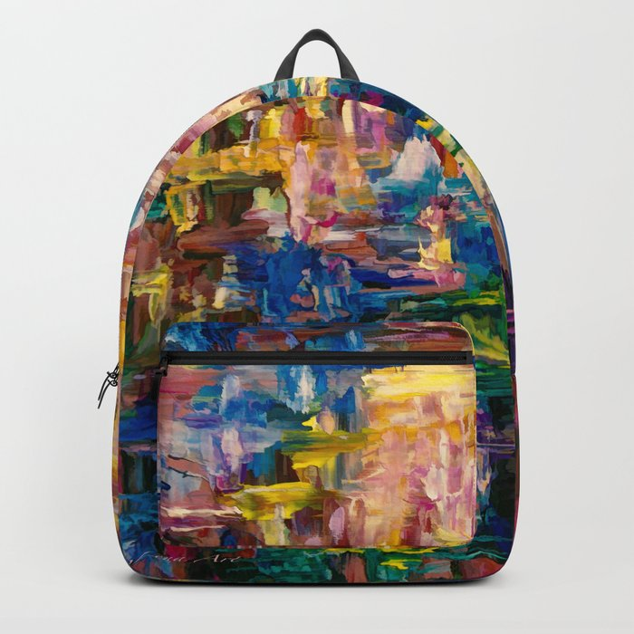 Abstract - Colorful World by Lena Owens Backpack