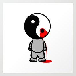 Yin Yang Heart Art Print