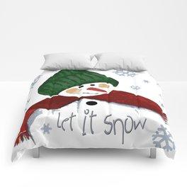 Let's build a snowman, let it snow Comforters