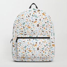 Colorful smooth stones terrazzo pattern Backpack