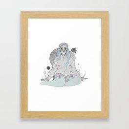 soft grey Framed Art Print