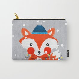 Christmas Fox with fairy lights Carry-All Pouch