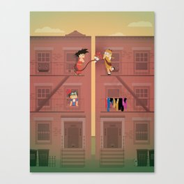 The Nick Yorkers in April Canvas Print