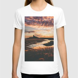 Reflective Water Landscape Cloudy Sky Sunlight After Rain T-shirt
