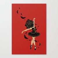black swan Canvas Prints featuring Black Swan by Enkel Dika