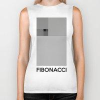 fibonacci Biker Tanks featuring Fibonacci squares by Solar Designs