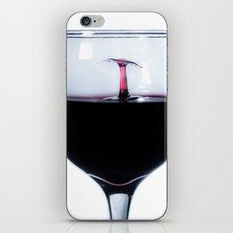 A Splash of Red Wine iPhone Skin