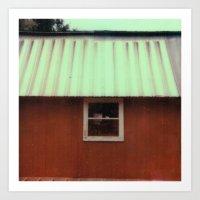 barn - counrty - farm - sx-70 one-step - vintage photography - polaroid print Art Print