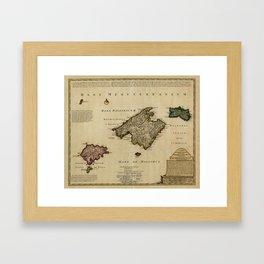Map Of Majorca 1720 Framed Art Print