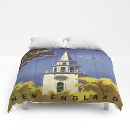 Vintage poster - New England Comforters