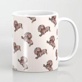 Dog Pattern 2 on Girly Pink Coffee Mug