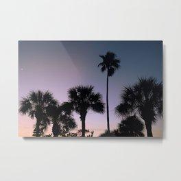 Palms in the Night Sky Metal Print