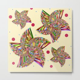 Bright Abstract Pinwheels Metal Print