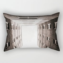New York City Brown Brick Apartment Building, NYC Urban Queens Rectangular Pillow