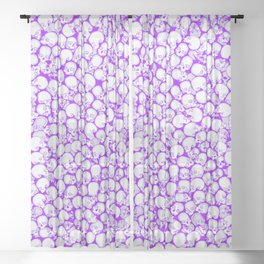 Gothic Crowd ULTRA VIOLET Sheer Curtain
