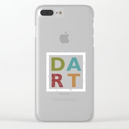 Distressed Dart Typography Bar Pub Tournament Clear iPhone Case