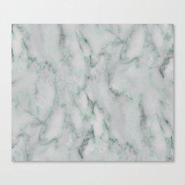 Ariana verde - smoky teal marble Canvas Print