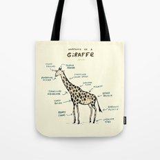Anatomy of a Giraffe Tote Bag