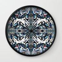 flawless Wall Clocks featuring Flawless by Irina Chuckowree