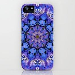 Summer sky Delphinium mandala iPhone Case