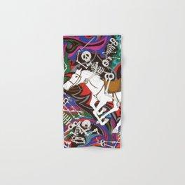 Conquistador - Skeleton on White Horse Hand & Bath Towel