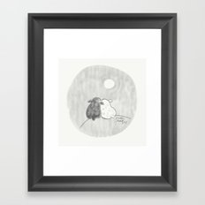 Two Sheep on a Hill Framed Art Print