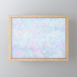 Rainbow Unicorn Pastel Fluffiness Framed Mini Art Print