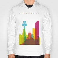 liverpool Hoodies featuring Shapes of Liverpool. Accurate to scale. by Glen Gould