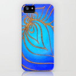 Golden net over the abyss iPhone Case
