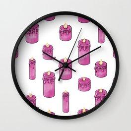Candle Lit Pattern Wall Clock