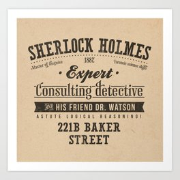 Sherlock Holmes -Consulting Detective- Art Print