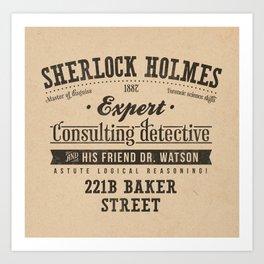 Sherlock Holmes -Consulting Detective- Art Print