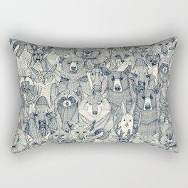 canadian animals indigo pearl Rectangular Pillow