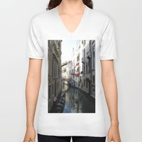 venice V-neck T-shirts featuring Venice by Melia Metikos