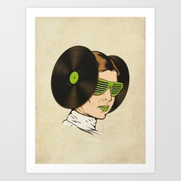 Princess L. was a DJ Art Print