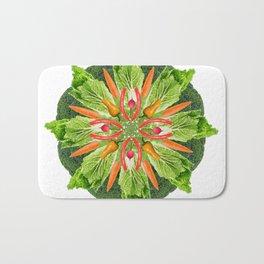 vegan mandala Bath Mat