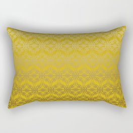 Yellow weaves pattern Rectangular Pillow