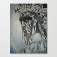 native american Canvas Prints featuring Native American by Diablues Hands