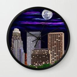 Moon over Minneapolis 2 Wall Clock