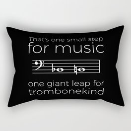 That's one small step for music, a giant leap for trombonekind Rectangular Pillow