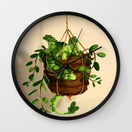 Succulent dragon Wall Clock