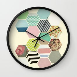 Florals and Stripes Wall Clock